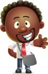 Cute African American Man Cartoon 3D Vector Character AKA Jeffrey Strategic - Travel 2