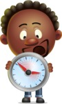 Cute African American Man Cartoon 3D Vector Character AKA Jeffrey Strategic - Time is Yours