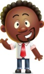 Cute African American Man Cartoon 3D Vector Character AKA Jeffrey Strategic - Show