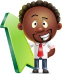 Cute African American Man Cartoon 3D Vector Character AKA Jeffrey Strategic - Pointer 1