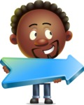 Cute African American Man Cartoon 3D Vector Character AKA Jeffrey Strategic - Pointer 2