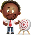 Cute African American Man Cartoon 3D Vector Character AKA Jeffrey Strategic - Target
