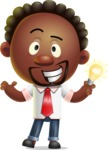 Cute African American Man Cartoon 3D Vector Character AKA Jeffrey Strategic - Idea 1