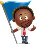 Cute African American Man Cartoon 3D Vector Character AKA Jeffrey Strategic - Checkpoint