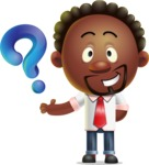 Cute African American Man Cartoon 3D Vector Character AKA Jeffrey Strategic - Question