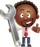 Cute African American Man Cartoon 3D Vector Character AKA Jeffrey Strategic - Repair