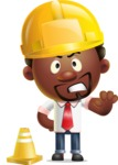 Cute African American Man Cartoon 3D Vector Character AKA Jeffrey Strategic - Under Construction 1