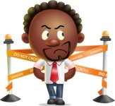 Cute African American Man Cartoon 3D Vector Character AKA Jeffrey Strategic - Under Construction 2