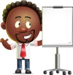 Cute African American Man Cartoon 3D Vector Character AKA Jeffrey Strategic - Presentation 1