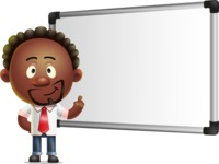 Cute African American Man Cartoon 3D Vector Character AKA Jeffrey Strategic - Presentation 3