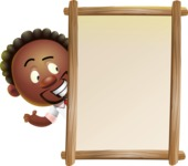 Cute African American Man Cartoon 3D Vector Character AKA Jeffrey Strategic - Presentation 4