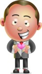 Xavier Sharpmind - Romantic Businessman Cartoon Character
