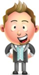 Stylish Man Cartoon 3D Vector Character Design AKA Andrew Richman - Normal