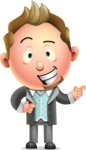 Stylish Man Cartoon 3D Vector Character Design AKA Andrew Richman - Point 2