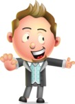 Stylish Man Cartoon 3D Vector Character Design AKA Andrew Richman - Direct Attention 2