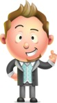 Stylish Man Cartoon 3D Vector Character Design AKA Andrew Richman - Attention