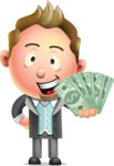 Stylish Man Cartoon 3D Vector Character Design AKA Andrew Richman - Show me  the Money