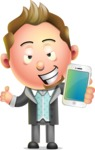 Stylish Man Cartoon 3D Vector Character Design AKA Andrew Richman - iPhone