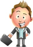 Stylish Man Cartoon 3D Vector Character Design AKA Andrew Richman - Briefcase 1