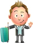 Stylish Man Cartoon 3D Vector Character Design AKA Andrew Richman - Travel 1