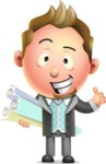 Stylish Man Cartoon 3D Vector Character Design AKA Andrew Richman - Plans