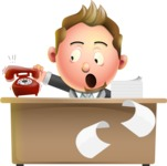 Stylish Man Cartoon 3D Vector Character Design AKA Andrew Richman - Office fever