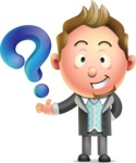 Stylish Man Cartoon 3D Vector Character Design AKA Andrew Richman - Question
