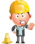 Stylish Man Cartoon 3D Vector Character Design AKA Andrew Richman - Under Construction 1