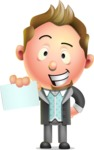 Stylish Man Cartoon 3D Vector Character Design AKA Andrew Richman - Sign 1