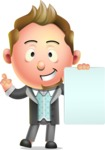 Stylish Man Cartoon 3D Vector Character Design AKA Andrew Richman - Sign 2