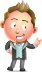 Stylish Man Cartoon 3D Vector Character Design AKA Andrew Richman - Point
