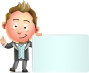 Stylish Man Cartoon 3D Vector Character Design AKA Andrew Richman - Sign 7