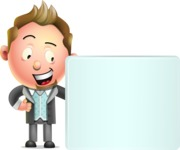 Stylish Man Cartoon 3D Vector Character Design AKA Andrew Richman - Sign 8