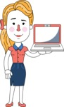 Geometry Blonde Girl Vector Character Design AKA Caitlyn - Laptop 2