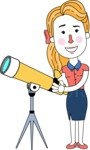 Geometry Blonde Girl Vector Character Design AKA Caitlyn - Telescope