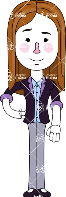 Minimalistic Business Girl Vector Character Design AKA Maryanna - Normal