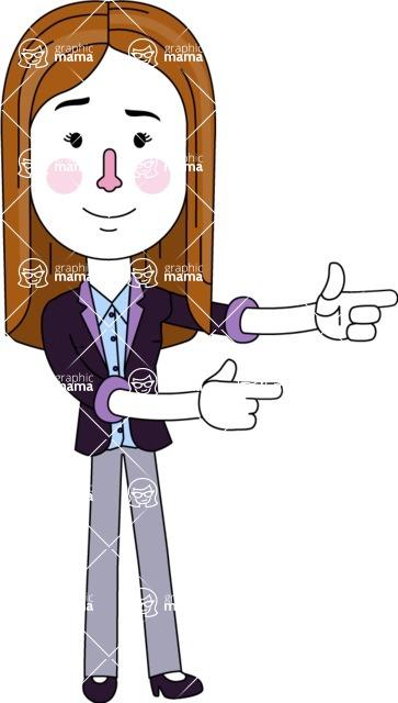 Minimalistic Business Girl Vector Character Design AKA Maryanna - Point2
