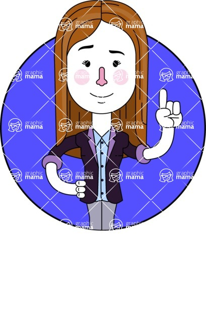 Minimalistic Business Girl Vector Character Design AKA Maryanna - Shape 1