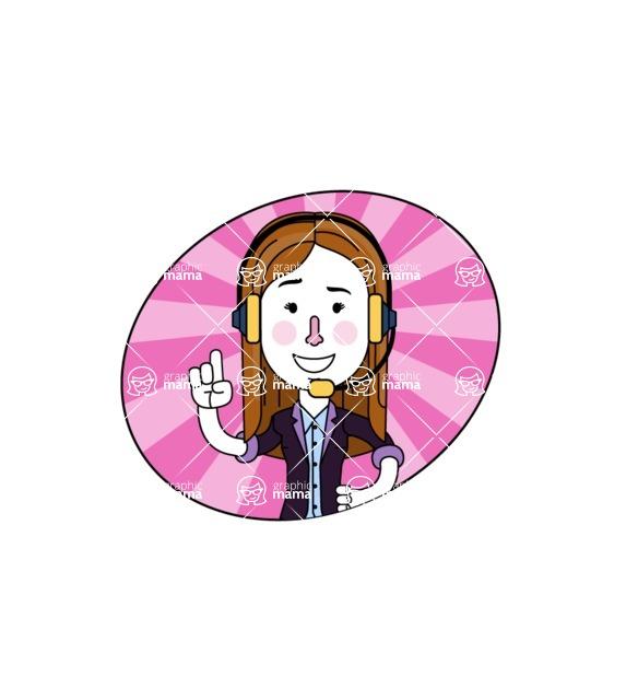 Minimalistic Business Girl Vector Character Design AKA Maryanna - Shape 4
