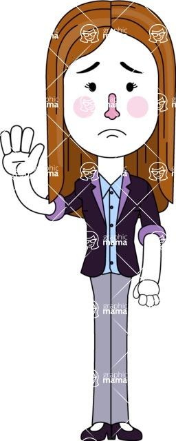 Minimalistic Business Girl Vector Character Design AKA Maryanna - Goodbye