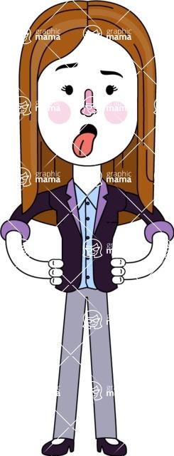 Minimalistic Business Girl Vector Character Design AKA Maryanna - Making Face