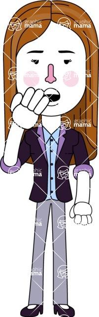 Minimalistic Business Girl Vector Character Design AKA Maryanna - Bored