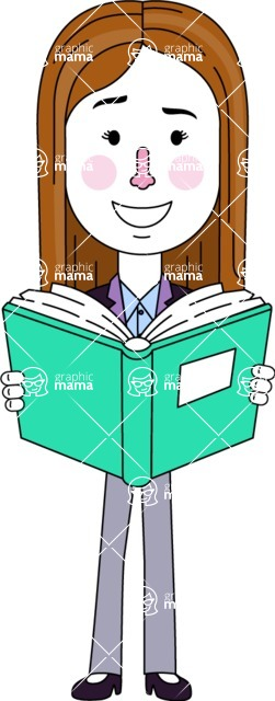 Minimalistic Business Girl Vector Character Design AKA Maryanna - Book 1