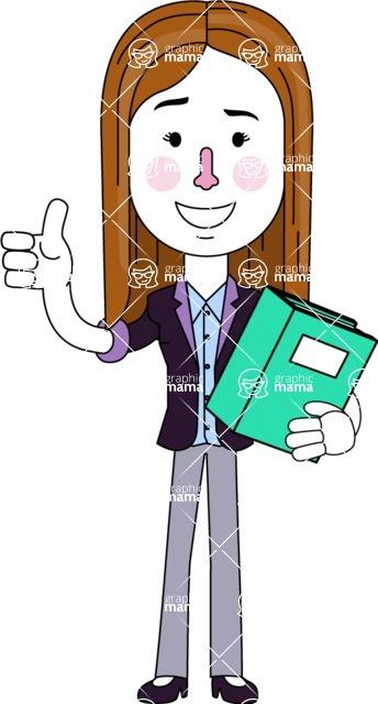 Minimalistic Business Girl Vector Character Design AKA Maryanna - Book 3