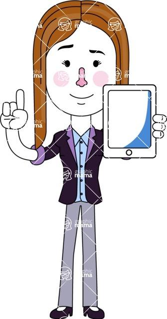 Minimalistic Business Girl Vector Character Design AKA Maryanna - iPad 1