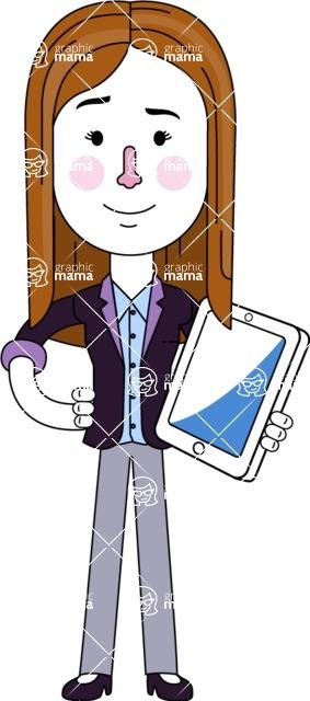 Minimalistic Business Girl Vector Character Design AKA Maryanna - iPad3