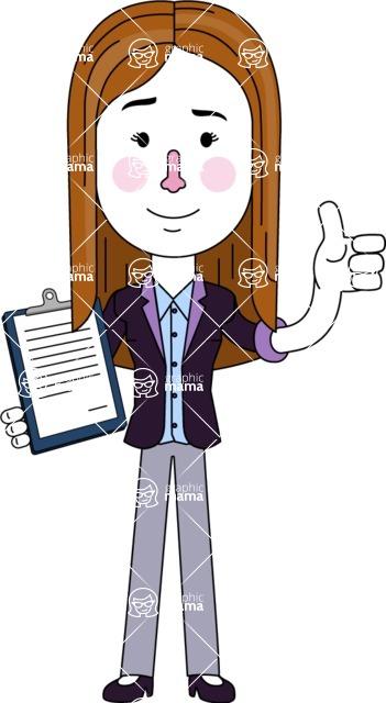 Minimalistic Business Girl Vector Character Design AKA Maryanna - Notepad 1