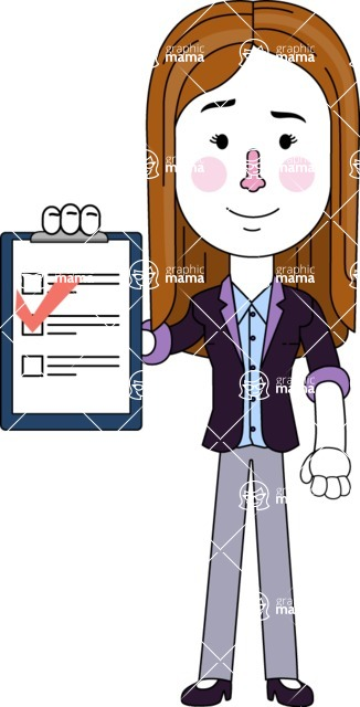 Minimalistic Business Girl Vector Character Design AKA Maryanna - Notepad 3
