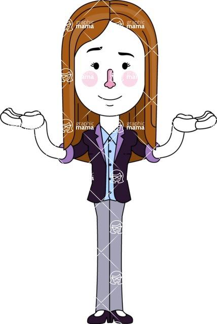 Minimalistic Business Girl Vector Character Design AKA Maryanna - Showcase 2