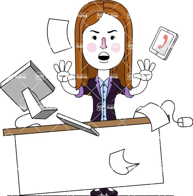 Minimalistic Business Girl Vector Character Design AKA Maryanna - Office Fever